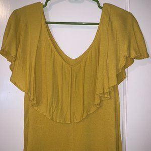 Nordstrom Yellow Ruffle Blouse